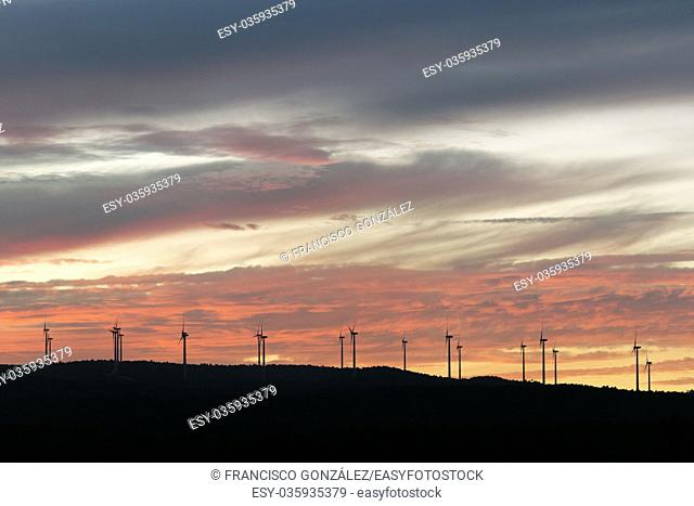 Sunset in the mountains of Navalón, province of Valencia; Spain