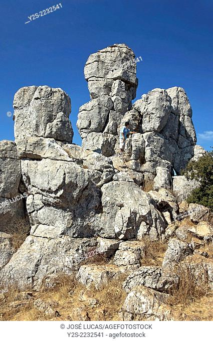 Torcal de Antequera Natural Park, Antequera, Malaga-province, Region of Andalusia, Spain, Europe