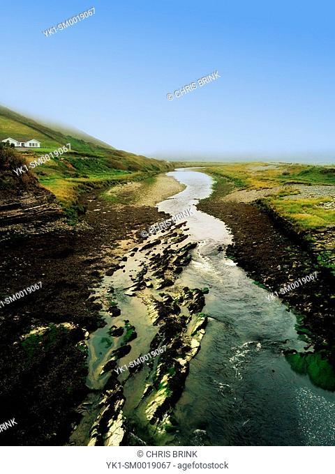 Tidel section of the River Ystwyth in Aberystwyth Wales UK