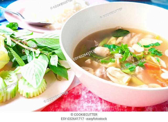 Curries thai sreet food
