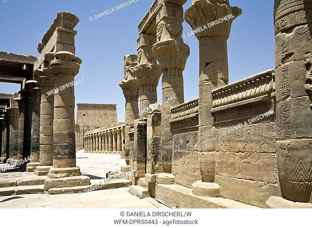 Temple of Isis on Philae Island, Aswan, Egypt