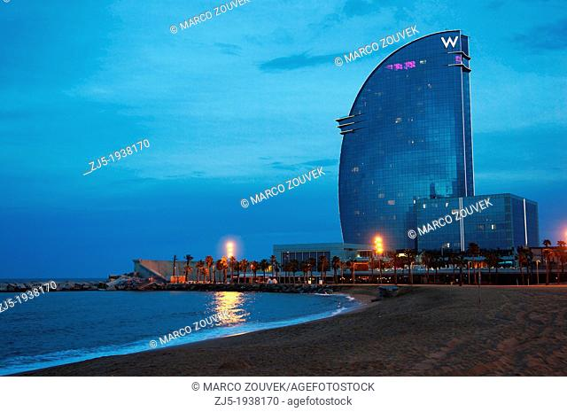 Hotel W Barcelona. Barcelona city Spain