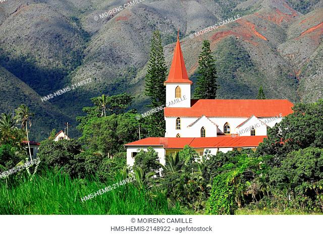 France, New Caledonia, Grande-Terre Southern Province Le Mont Dore church of Saint Louis (nineteenth)
