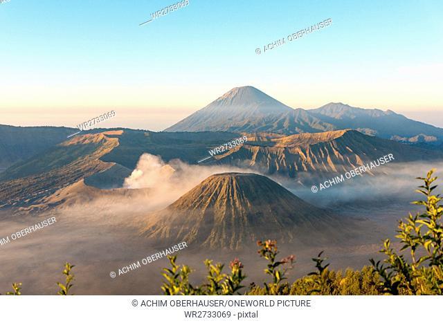 Indonesia, Java, Pasuruan, view of volcanic landscape