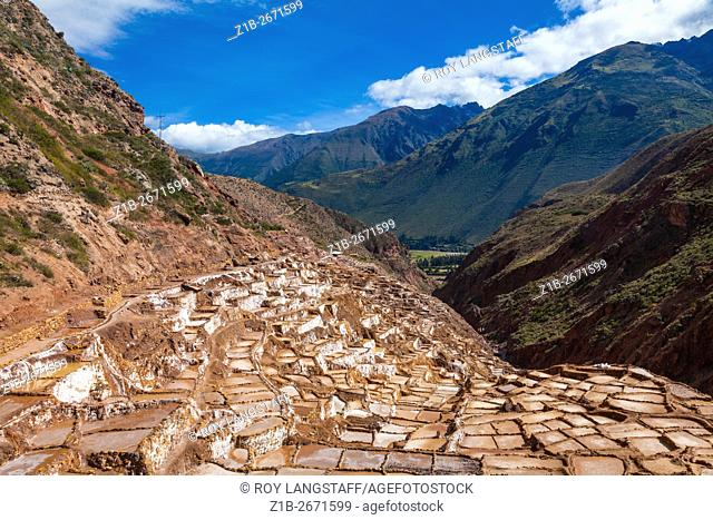 The terraced salt pans of Maras, Sacred Valley, Peru