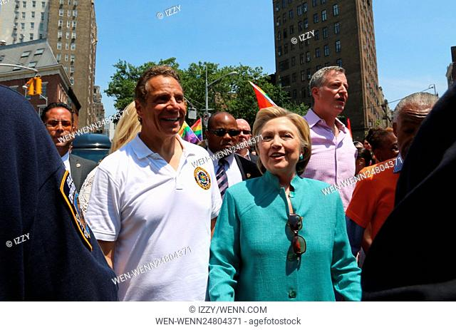 New York City Pride March 2016 Featuring: Andrew Cuomo, Hilary Clinton Where: New York City, New York, United States When: 26 Jun 2016 Credit: IZZY/WENN