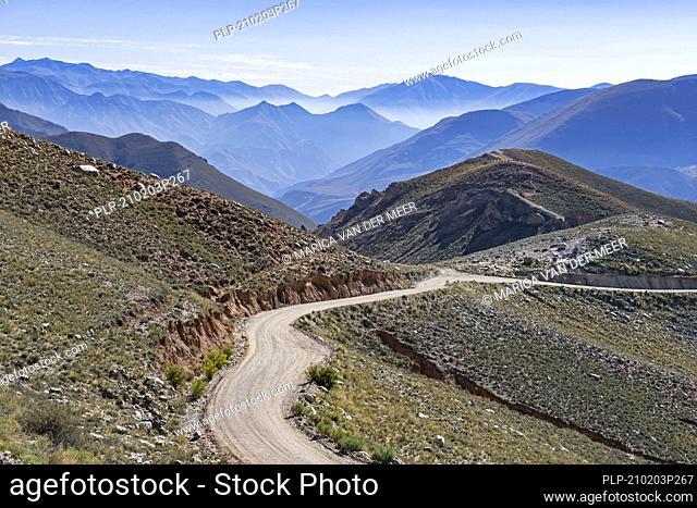 Camino Fin Del Mundo / Ruta Provincial 133 / RP133, small dirt road leading to the village Iruya, Salta Province in northwestern Argentina