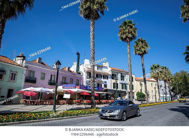 Street in Cascais, Lisbon, Portugal