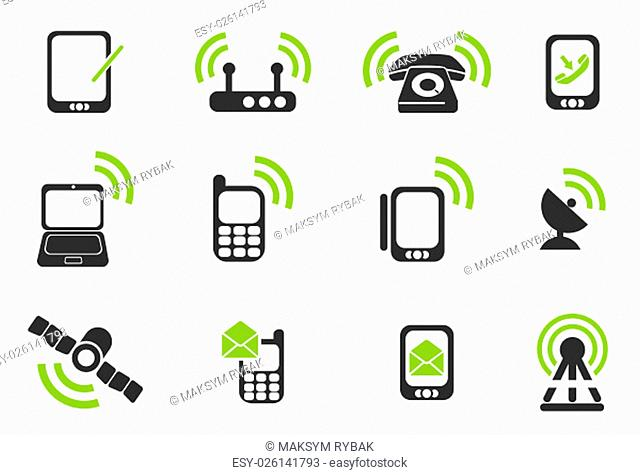 Mobile simply symbols for web and user interface