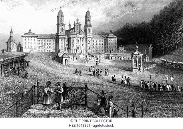 The Abbey of Einsiedeln, Schwyz, Switzerland, 1836