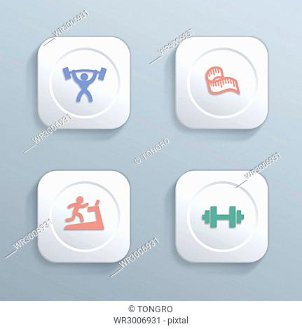Various icons related to health
