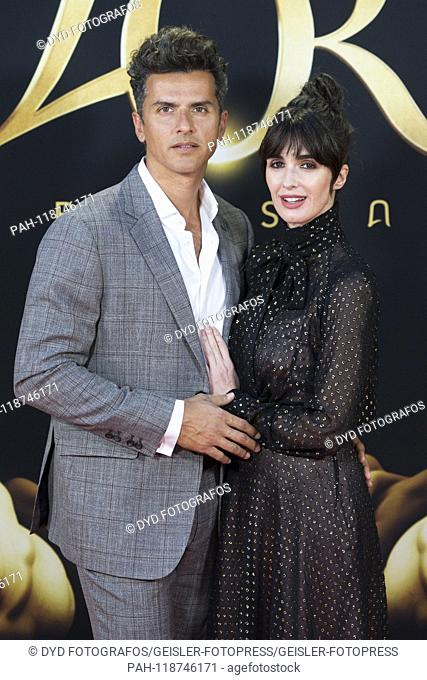 Paz Vega with husband Orson Salazar at the presentation of the L'Or Barista coffee machine at the Real Academia de Bellas Artes. Madrid, 27.03