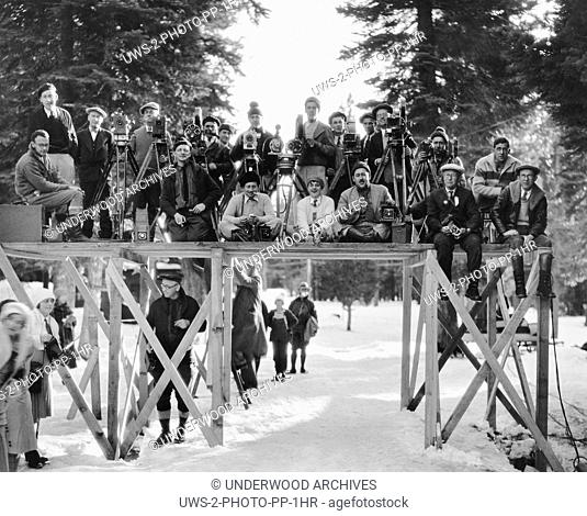 California: February 24, 1930 A large film crew poses for a portrait