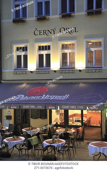 Czech Republic, Karlovy Vary, Cerny Orel, restaurant,