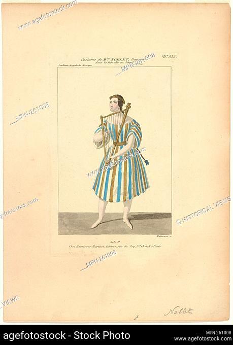 Costume de Melle Noblet, danseuse, dans La révolte au sérail, ballet, act II, Académie royale de musique Additional title: Révolte au sérail