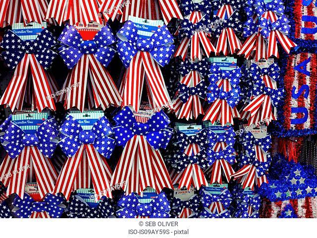 Stars and stripes souvenir ribbons