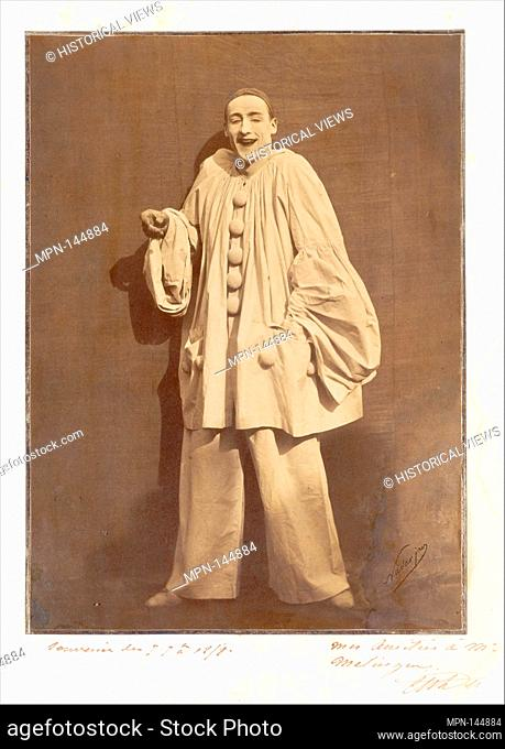 Pierrot Laughing. Artist: Nadar (French, Paris 1820-1910 Paris); Artist: Adrien Tournachon (French, 1825-1903); Person in Photograph: Jean-Charles Deburau...