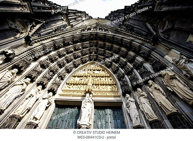 Germany, Cologne, cathedral, low angle view