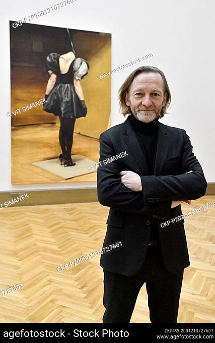 Belgian painter Michael Borremans poses for photographers during the opening of exhibition The Duck in Galerie Rudolfinum, Prague, Czech Republic, January 21