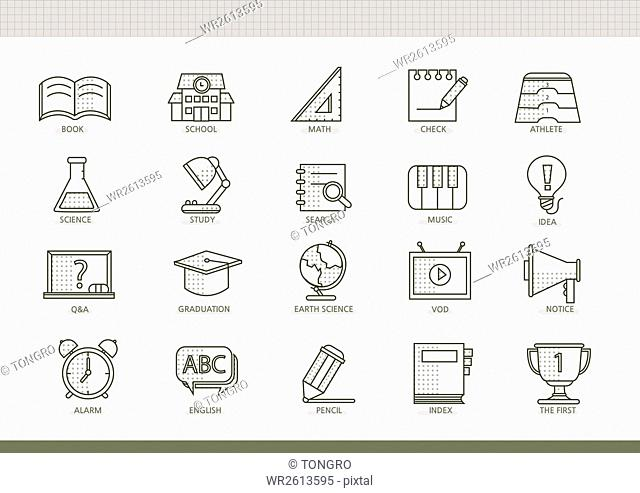 Icons related to education
