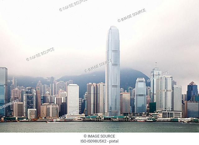 Hong kong, hong kong island, skyline of central district