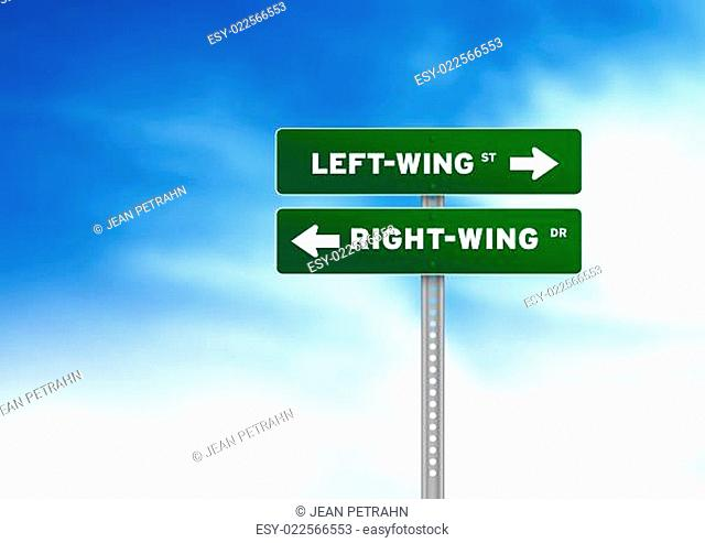 Left-Wing & Right-Wing Road Sign