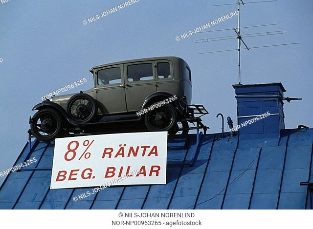 Old car antenna Stock Photos and Images | age fotostock