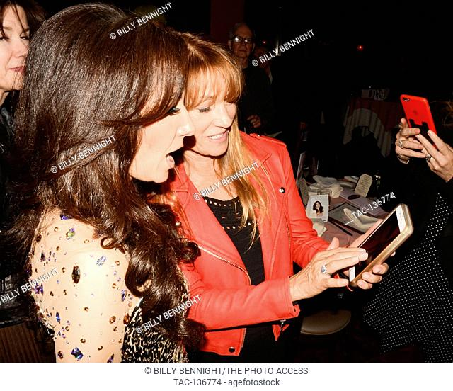 Jayne Seymour and Deborah Silver attend Deborah Silver's performance at Catalina Jazz Club Bar & Grill in Hollywood, California on March 28, 2017