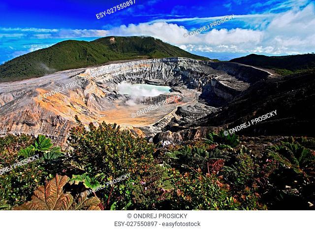 The Poas volcano in Costa Rica