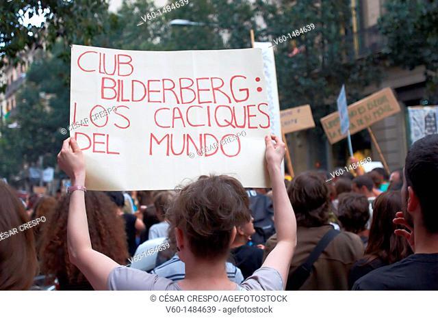 -Bilderberg Club, Owners of the World- Barcelona Indignants Movement 15M (Spain)