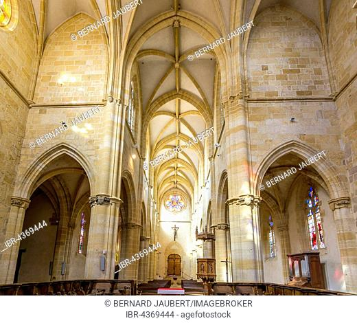 Priory Church Saint-Martin of Ambierle village, Ambierle village, Roanne arrondissement, Loire département, Auvergne-Rhône-Alpes region, France
