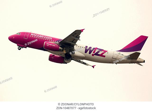Wizz Air airplane takes off