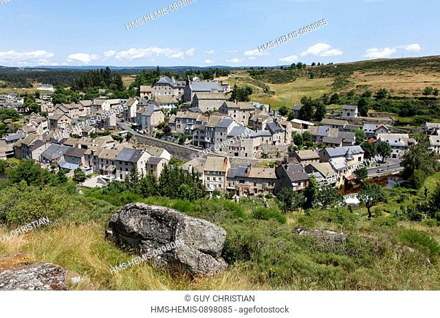 France, Lozere, Gevaudan, mountains of Margeride, Serverette, high Truyere valley