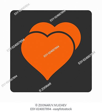 Love icon from Award Buttons OverColor Set