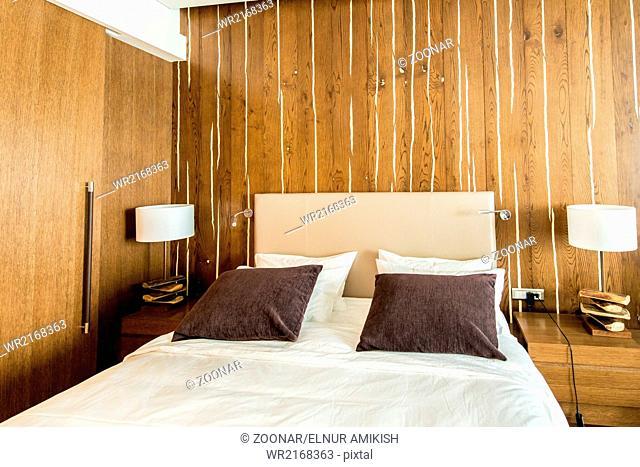 Shahdag - FEBRUARY 8, 2015: Room in Park Chalet Hotel on Februar