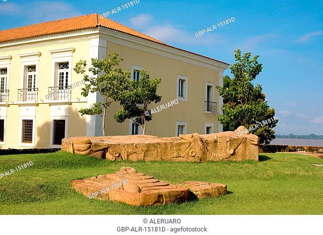 Building, Garden, Forte do Castelo, Belém, Pará, Brazil