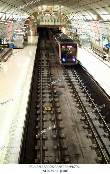 Bilbao subway. Biscay, Euskadi. Spain