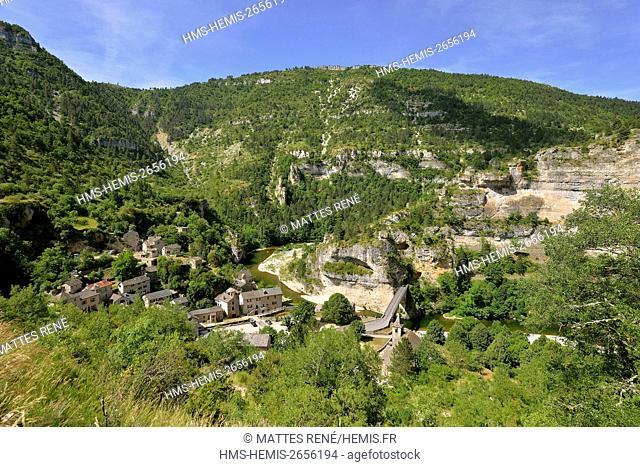 France, Lozere, the Causses and the Cevennes, Mediterranean agro pastoral cultural landscape, listed as World Heritage by UNESCO, the Gorges du Tarn