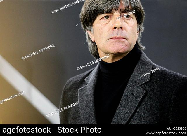 Wolfsburg, Germany, March 20, 2019: German national team head coach Joachim Low during the international soccer game Germany vs Serbia