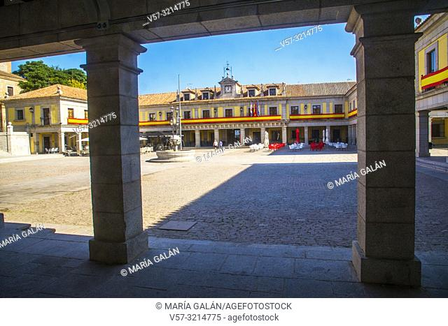 Plaza Mayor. Brunete, Madrid province, Spain