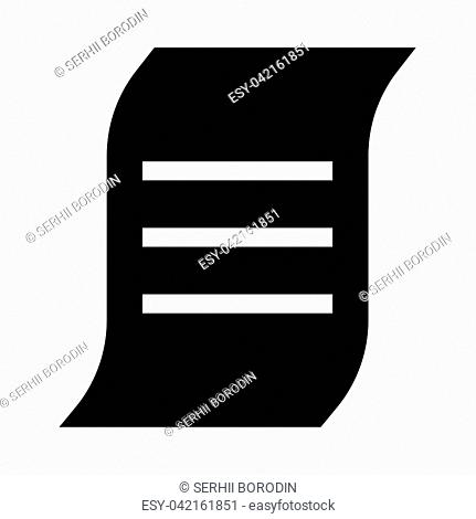 Document it is black icon . Flat style