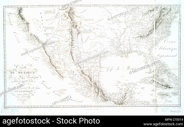Map of Mexico and the neighboring countries to the north and east: drawn from the large map of New Spain by Mr. A. de Humboldt and other materials
