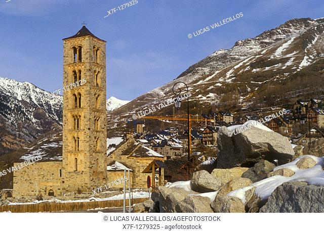 Church of Sant Climent Romanesque church  Taüll  Boí valley  Lleida province  Catalonia  Spain