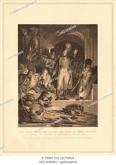 'Sir David Baird Discovering the Body of Tippoo Sultaun', 1799 (1878). Artist: M Nargert