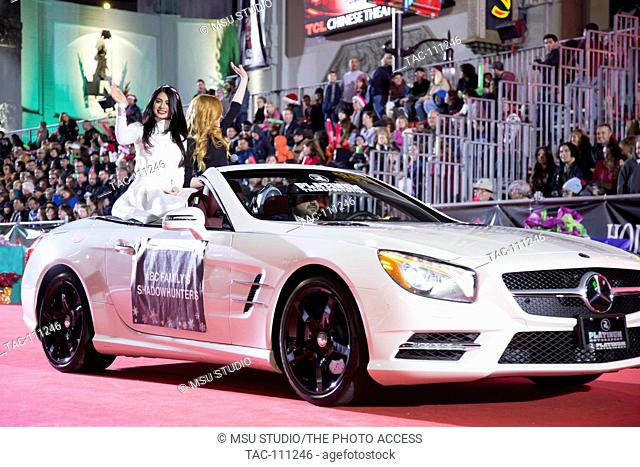 """Emeraude Toubia and Katherine McNamara attend The 84th Annual Hollywood Christmas Parade """"The Magic of Christmas"""" - Featuring Marine Toys for Tots Foundation on..."""