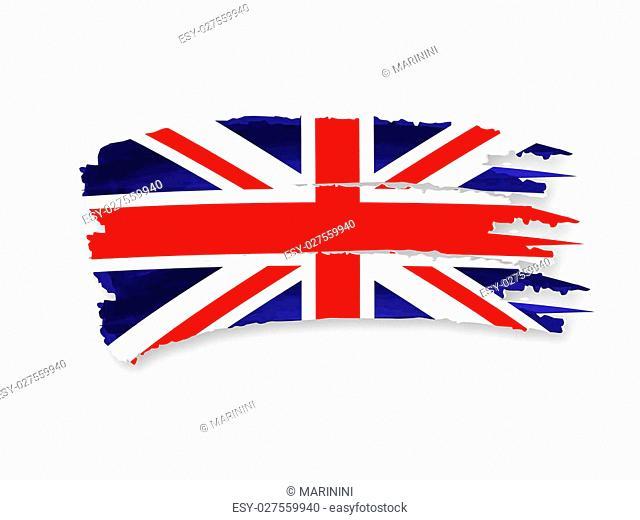 Illustration of Isolated hand drawn British flag