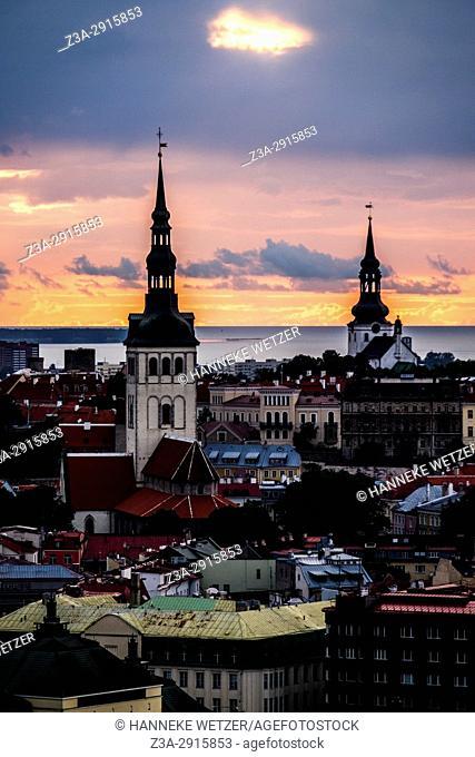 Sunset over Tallinn, Estonia