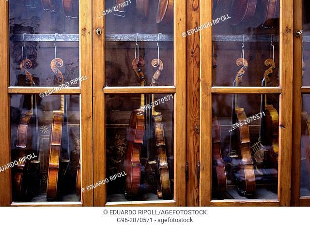 Violins in a closet