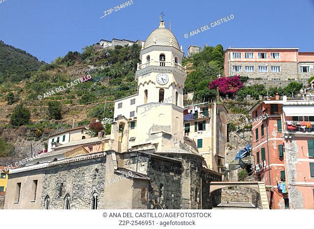 Panorama in Vernazza village Cinque Terre La Spezia Italy