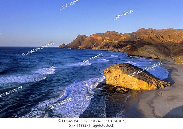 Mónsul beach Cabo de Gata-Nijar Natural Park  Biosphere Reserve, Almeria province, Andalucia, Spain